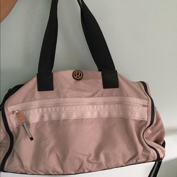 52674c1c9401 lululemon athletica Handbags - Lululemon duffel gym bag RARE rose gold  hardware